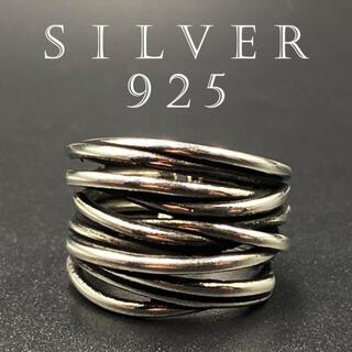 リング カレッジリング シルバー925 人気 指輪 アクセサリー 347A F(リング(指輪))