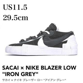 sacai - 新品 新品 SACAI NIKE BLAZER LOW GREY サカイ ナイキ