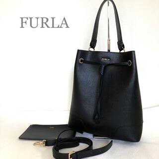 Furla - ●未使用●FURLA ステイシー ブラック 巾着 ショルダー2way ポーチ付き