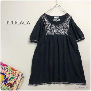 チチカカ(titicaca)のTITICACA チチカカ . 刺繍 チュニック プルオーバー ブラウス(チュニック)