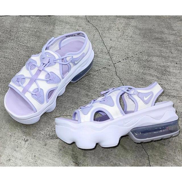 NIKE(ナイキ)のAir Max Koko (エアマックスココ) バイオレット&ホワイト 24cm レディースの靴/シューズ(サンダル)の商品写真