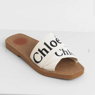 Chloe - Chloe キャンパス製『Woody』フラットミュール