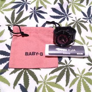 ベビージー(Baby-G)のCASIO Baby-G bga-130 ジーショック ブラック 文字ピンク(腕時計)