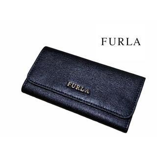 フルラ(Furla)の【美品】 FURLA キーケース 6連 レザー 黒(キーケース)