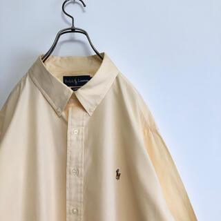 Ralph Lauren - 90s  ラルフローレン 長袖シャツ ボタンダウン XL相当 オーバーサイズ