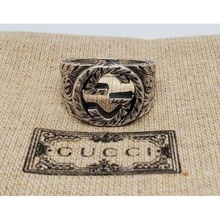 グッチ(Gucci)の【特価現行 中古品】GUCCI インターロッキングG ワイド リング 燻加工(リング(指輪))
