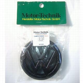 フォルクスワーゲン(Volkswagen)のMotor-Technik リア用カーボンエンブレム Golf2 Jettaなど(車外アクセサリ)