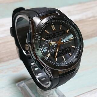 CASIO - 美品【CASIO/WAVECEPTOR】電波ソーラー メンズ腕時計