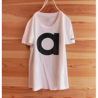 adidas - 美品 adidas アディダス ロゴTシャツ ホワイト