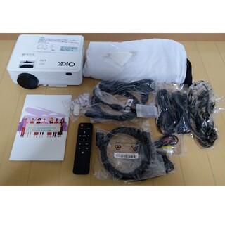 プロジェクター  QKK MV-06 WiFiモデル スクリーン用シート付き(プロジェクター)