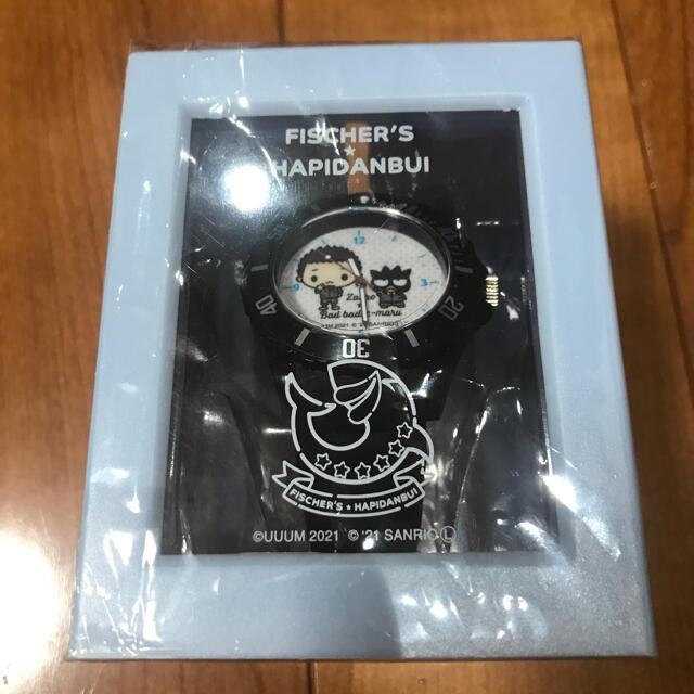 サンリオ(サンリオ)のフィッシャーズ✖️はぴだんぶい コラボ腕時計 エンタメ/ホビーのおもちゃ/ぬいぐるみ(キャラクターグッズ)の商品写真