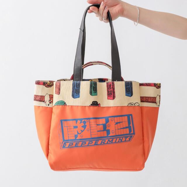 ear PAPILLONNER(イアパピヨネ)のpez×ear コットンキャンバスビッグトートバッグ レディースのバッグ(トートバッグ)の商品写真