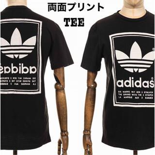 adidas - 美品 adidas 両面プリントTシャツ アディダス トレフォイル