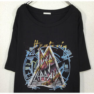 GU - 【コラボ】GU×デフレパード Tシャツ HYSTERIA ツアー 復刻 黒色