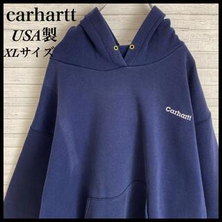 carhartt - 【激レア】カーハート☆USA製 刺繍ロゴ パーカー プルオーバー 肉厚 XL