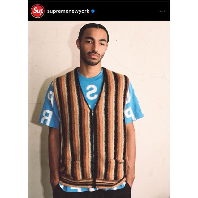 Supreme(シュプリーム)の最安値! Supreme Stripe Sweater Vest メンズのトップス(ベスト)の商品写真