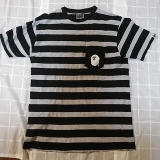 A BATHING APE - アベイシングエイプ ボーダーtシャツ