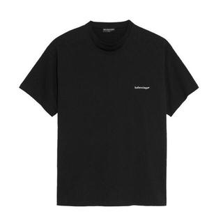 Balenciaga - 【9月まで限定】バレンシアガ ロゴプリントTシャツ ブラック Mサイズ