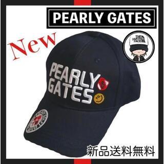 パーリーゲイツ(PEARLY GATES)の【新品】大人気!! PEARLY GATES ネイビー キャップ 帽子(キャップ)