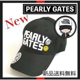 パーリーゲイツ(PEARLY GATES)の【新品】大人気!! PEARLY GATES ブラック キャップ 黒 帽子(キャップ)