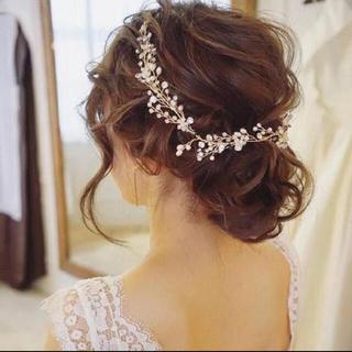 ヘッドドレス 小枝   ウェディング 結婚式 披露宴 前撮りウェディングフォト