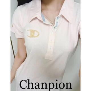 Champion - 新品タグ付き チャンピョン 金ロゴドット柄 ポロシャツ ワンピース ゴルフウエア