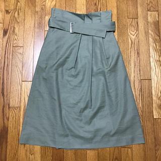 デミルクスビームス(Demi-Luxe BEAMS)のベルトタックスカート(ひざ丈スカート)