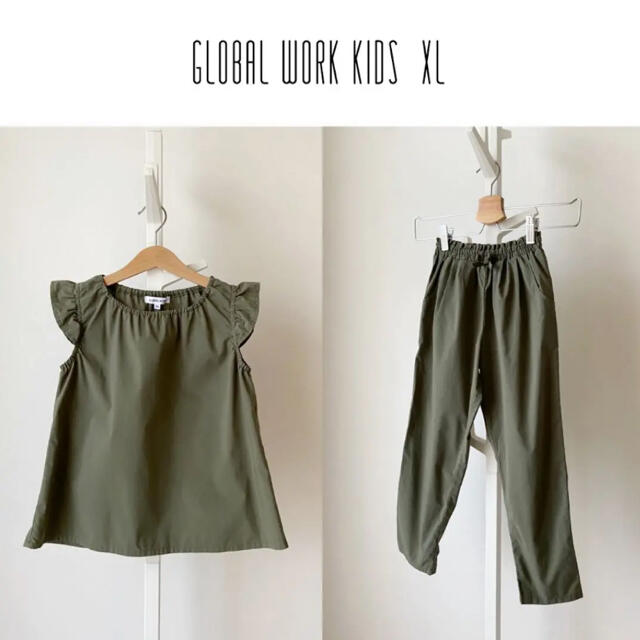 GLOBAL WORK(グローバルワーク)のGLOBAL WORK KIDS XL フレアノースリーブセットアップ キッズ/ベビー/マタニティのキッズ服女の子用(90cm~)(その他)の商品写真