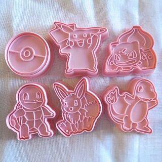 キャラクター クッキー型 6個セット