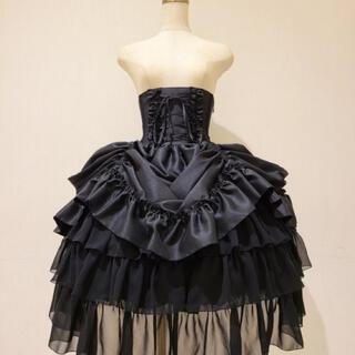 ATELIER BOZ - アトリエピエロ バッスルコルセットスカート 黒