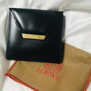 LOEWE - ロエベ ゴールドプレート 折財布