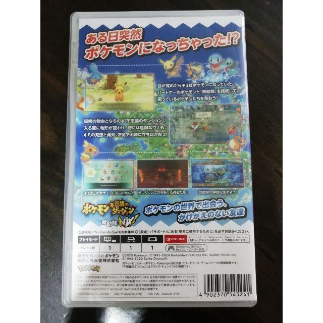 任天堂(ニンテンドウ)のポケモン不思議のダンジョン 救助隊DX SWITCH エンタメ/ホビーのゲームソフト/ゲーム機本体(家庭用ゲームソフト)の商品写真