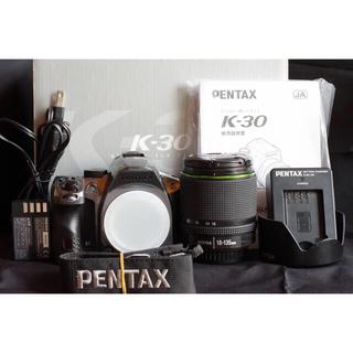 PENTAX - 動作良好!Pentax K-30シルバーレンズ18-135 セット おまけ付き