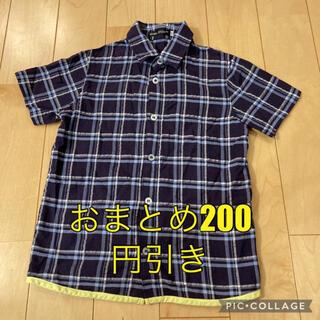 BeBe - 【美品】BeBe べべ 半袖シャツ☆サイズ120 チェック
