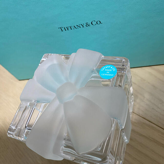 ティファニー(Tiffany & Co.)のTIFFANY&Co. 希少リボンクリスタル 小物入れ 置物(小物入れ)