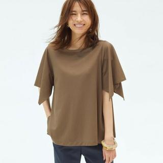 PLST - 今期 プラステ フレアスリーブ Tシャツ M ブラウン
