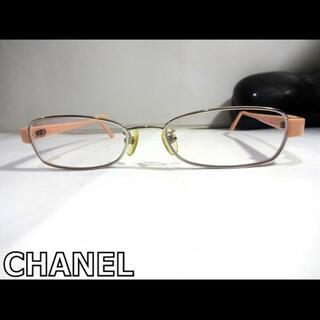 CHANEL - シャネルCHANELシルバー色&ピンクCCロゴ入り眼鏡メガネフレーム