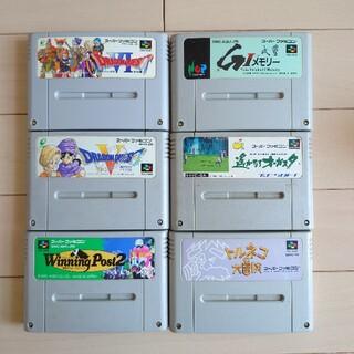 任天堂 - SFC スーパーファミコンソフト 6本
