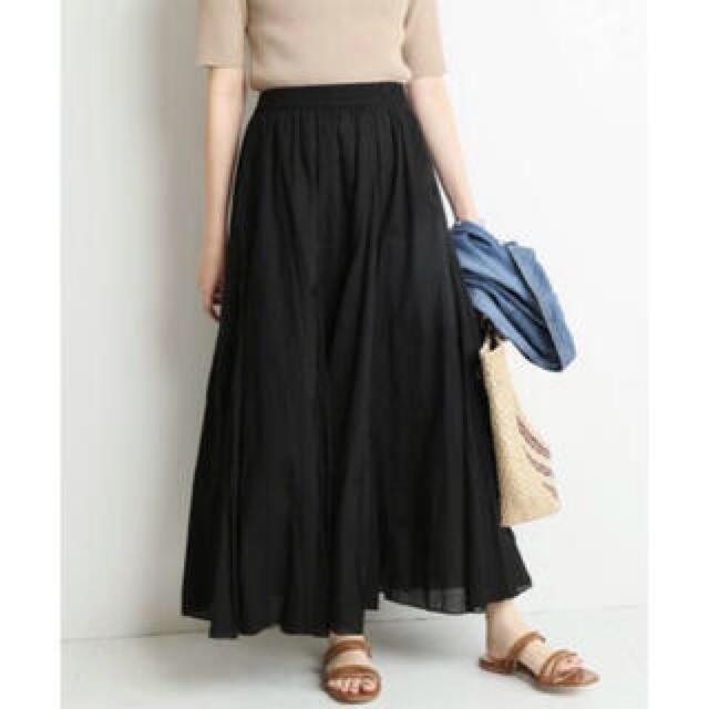IENA SLOBE(イエナスローブ)のSLOBE IENA コットンボイルフレアロングスカート レディースのスカート(ロングスカート)の商品写真