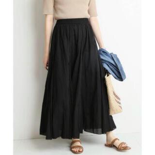 IENA SLOBE - SLOBE IENA コットンボイルフレアロングスカート