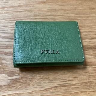 Furla - FURLA  グリーン ミニ財布 三つ折り