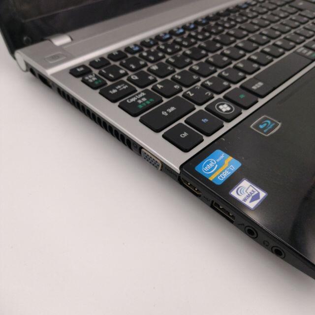 Acer(エイサー)のACER 3世代Core i7 ブルーレイ webカメラ 15.6インチ スマホ/家電/カメラのPC/タブレット(ノートPC)の商品写真