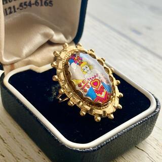 西ドイツヴィンテージ切手 ハートの女王 真鍮リング