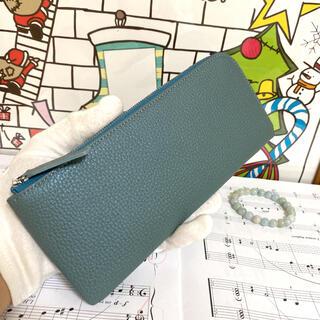 本革 L字長財布 高級メタリック牛革 レディース可愛い 大容量 軽量 薄型長財布(財布)
