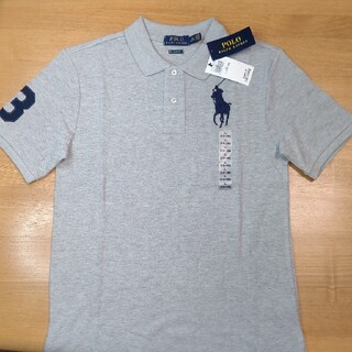POLO RALPH LAUREN - キッズ ボーイズ ポロシャツ 刺繍 グレー 14-16歳