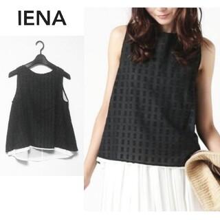 IENA - 【イエナ】ノースリーブ ブラウス 黒