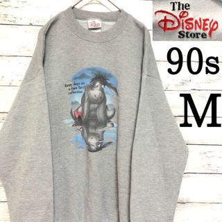 Disney - 90s M ディズニー イーヨー スウェット トレーナー グレー ゆるだぼ レア