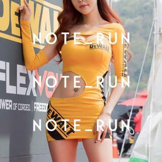 【xdw】コスチューム RQ レースクイーン 衣装 黄(衣装一式)