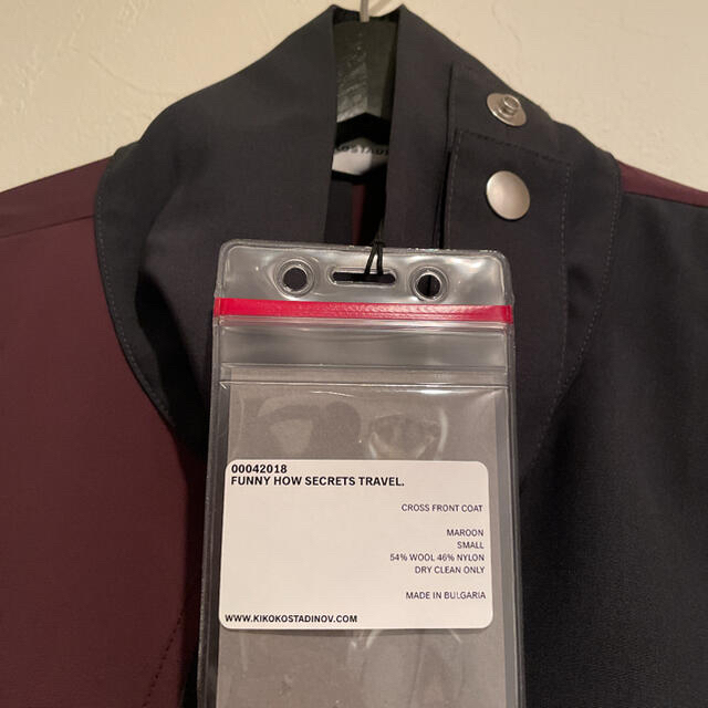 RAF SIMONS(ラフシモンズ)のKIKO KOSTADINOV 0004 CROSS FRONT COAT メンズのジャケット/アウター(ナイロンジャケット)の商品写真