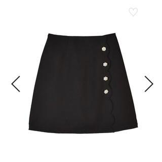 evelyn - evelyn スカラップ台形 SK スカート